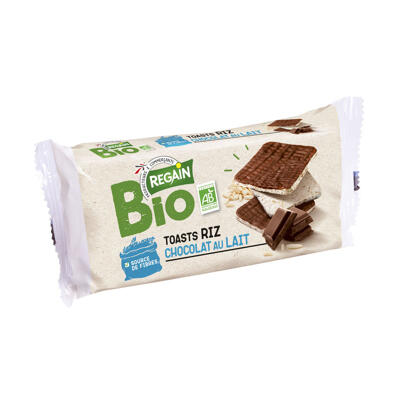 Toasts de riz chocolat au lait bio (Regain)