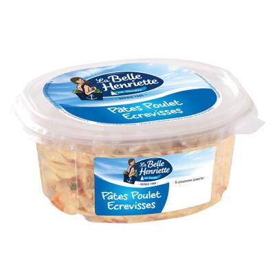 Salade de pâtes au poulet et aux écrevisses 300g (La belle henriette)