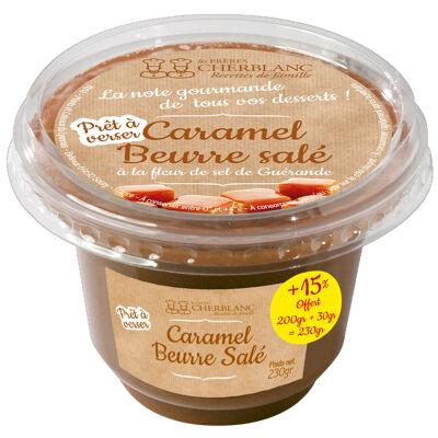Sauce caramel beurre salé 200g + 15% offert soit 230g au lieu de 200g (Les frères cherblanc)