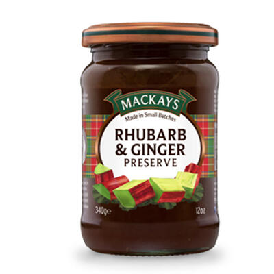 Rhubarb & ginger preserve 340g (Mackays)