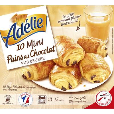 Mini pains au chocolat pur beurre - prêt à cuire - surgelés (Adelie)