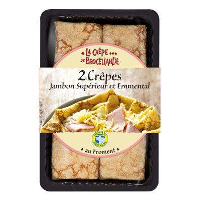 2 crêpes jambon supérieur et emmental 280g (La crêpe de broceliande)