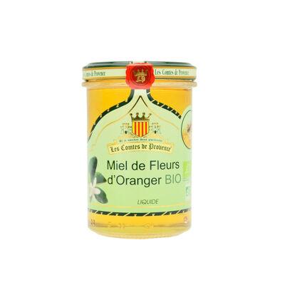 Miel de fleurs d'oranger bio liquide 250g (Les comtes de provence)