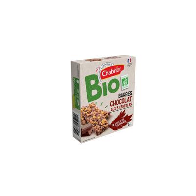 Barres chocolat aux 5 céréales bio (Chabrior)