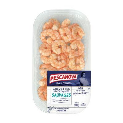 Crevettes decortiquees sauvages 200g (Pescanova)
