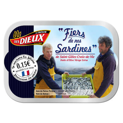 1/6 sardines fiers de nos sardines (Le tresor des dieux)