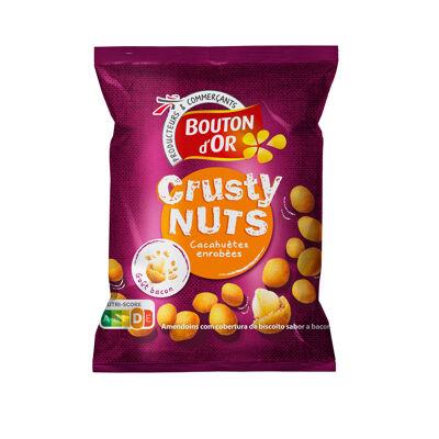 Cacahuètes enrobées de biscuit goût bacon (Bouton d'or)