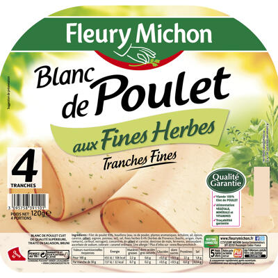 4 tr. fines blanc de poulet aux fines herbes (Fleury michon)