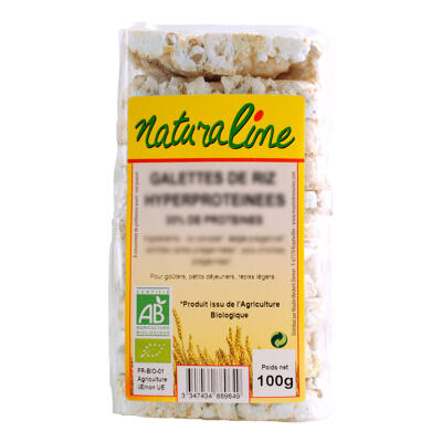 Galettes de riz hyperproteinees bio 100 g (Naturaline)