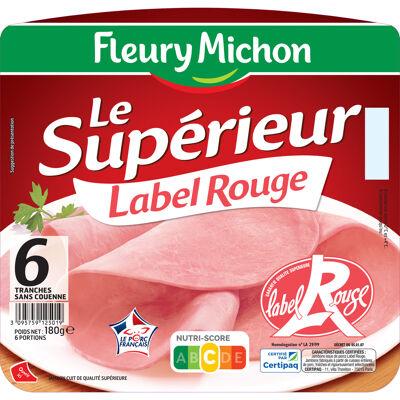 6 tr. jambon superieur label rouge s.c. (Fleury michon)