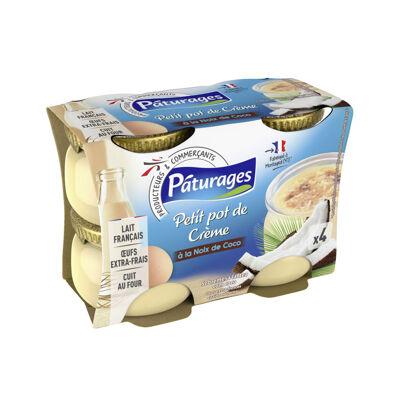 Dessert lacté à la noix de coco, aromatisé, et aux œufs extra-frais (Paturages)
