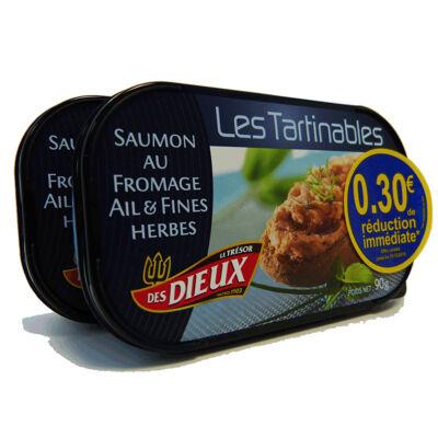 Lot de 2 tartinables saumon au fromage ail & fines herbes br 0.30€ (Le tresor des dieux)