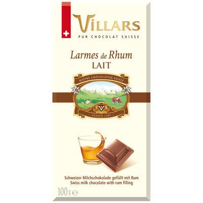 Chocolat au lait fourré au rhum (Villars)