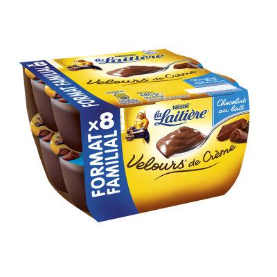 La laitiere velours de creme chocolat 8x85g (La laitiere)