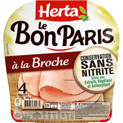 Herta jambon conservation sans nitrite broche x4 - 140g (Herta)