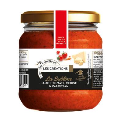 Sauce cuisinée à base de tomate cerise et de parmigiano reggiano (Les créations)