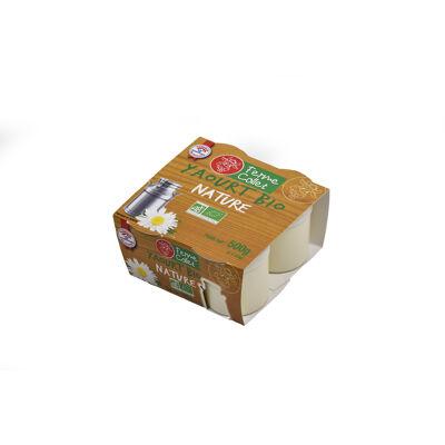Yaourt brassé au lait entier nature bio 4x125g (Ferme collet)