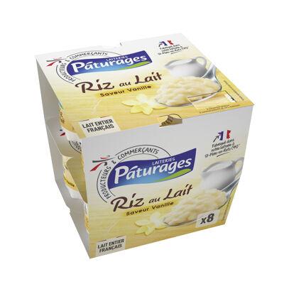 Riz au lait entier saveur vanille (Paturages)