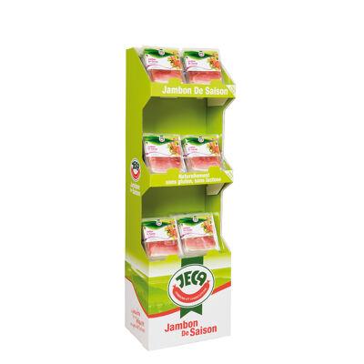 Jambon de saison prétranché 100 g en display (Jeca)