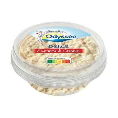 Tartinable à base de surimi et de chair de crabe (Odyssee)
