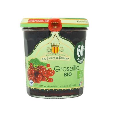 Gelée extra de groseilles bio 350g (Les comtes de provence)