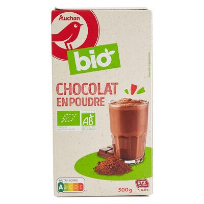 Auchan bio chocolat en poudre préparation pour boisson 500g (Auchan)