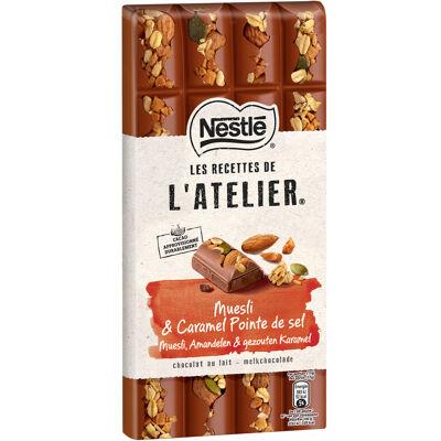 Nestle l'atelier chocolat au lait, muesli 170g (Les recettes de l'atelier)
