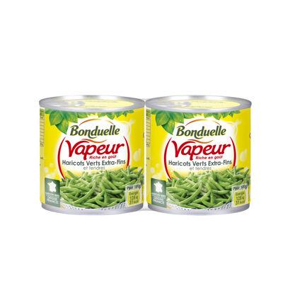 Haricots verts extra-fins et tendres vapeur (Bonduelle)