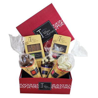 Le coffret carré de chocolats (Le temps des cerises)