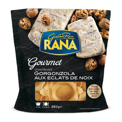 Rana grand ravioli gorgonzola aux eclats de noix 250 grs (Rana)