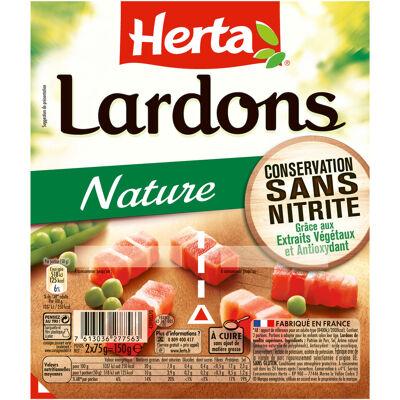 Herta lardons nature conservation sans nitrite - 2x75g (Herta)