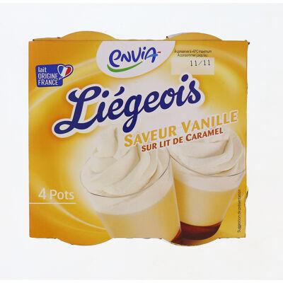Liégeois saveur vanille sur lit de caramel (Envia)