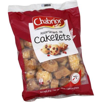 Petites cakes aux fruits confits et aux raisins secs et petits cake aux pépites de sucre (Chabrior)