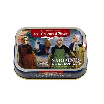 Sardines de saison 2020 à l'huile d'olive vierge extra (Les mouettes d'arvor)