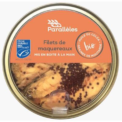 Filets de maquereaux msc à l'huile de colza et aux graines de moutarde bio (Parallèles)