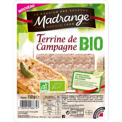 Terrine de campagne bio 150 g madrange (Madrange)