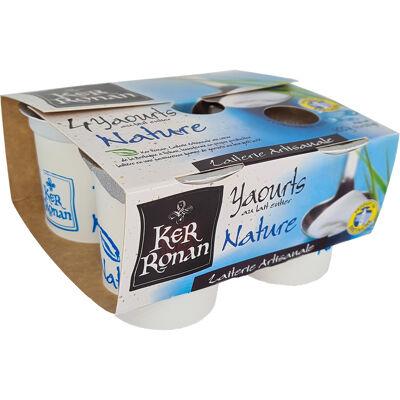 Yaourt étuvé nature au lait entier 4*125g (Ker ronan)