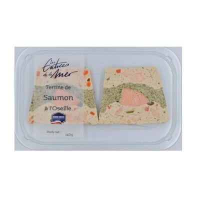 Terrine de saumon oseille 2x70g (Les entrées de la mer)