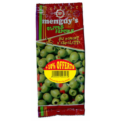 Olives farcies au piment d'espelette 150 g + 10 % offerts menguy's (Menguy's)