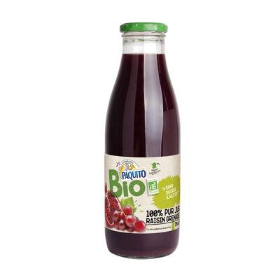 Jus de raisin et de grenade issu de l'agriculture biologique (Paquito)