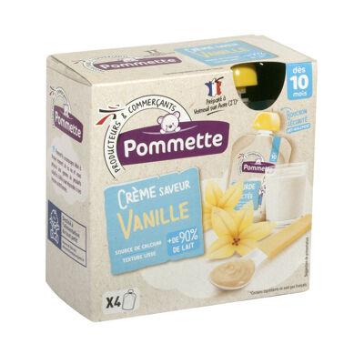 Gourdes de crème dessert saveur vanille pour bébé (Pommette)