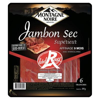 Jambon sec sup lr mn 6 trs 100 grs (Montagne noire)