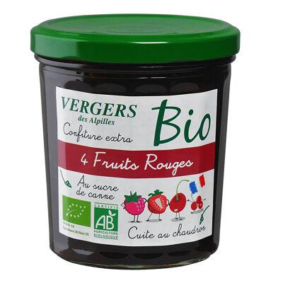 Vergers bio 4 fruits rouges 370g (Vergers des alpilles)
