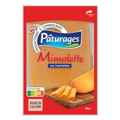 Mimolette en tranches fromage à pâte pressée non cuite au lait pasteurisé (Paturages)