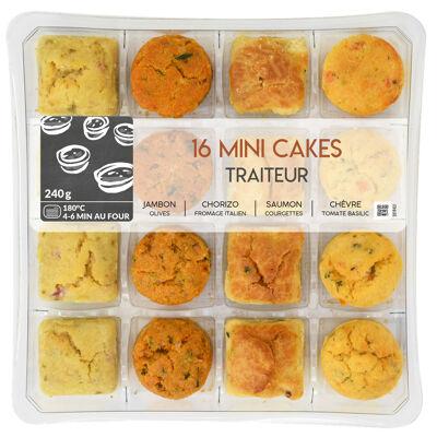 16 mini cakes traiteur 240 gr vpf (Mix buffet)