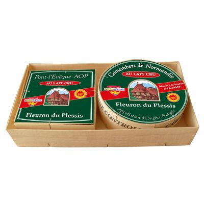 Duo du plessis pont l'eveque au lait cru aop 220g et camembert de normandie au lait cru aop 250g fleuron du plessis (Fleuron du plessis)
