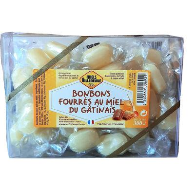 Bonbons fourrés au miel du gâtinais - etui souvenir 300g (Miels villeneuve)