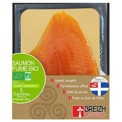 Saumon fume bio celtic selection breizh saveurs 2 tranches 80g (Breizh saveurs)