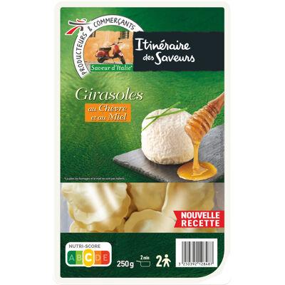 Pâtes aux œufs frais farcies au fromage de chèvre et au miel, aromatisées (Itinéraire des saveurs)