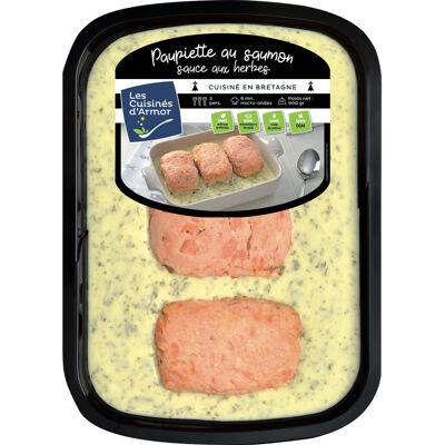Paupiette au saumon sauce aux herbes 900g (Les cuisines d'armor)